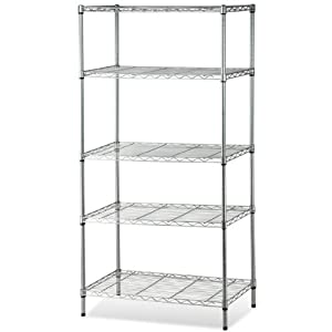 SWT 5 Tier Carbon Steel Kitchen Storage Shelves Metal Wire Rack Shelf