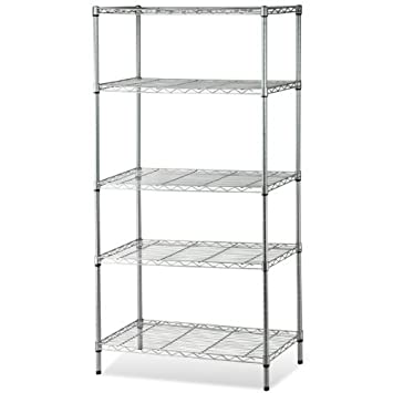 SWT 5Tier Carbon Steel Kitchen Storage Shelves Metal Wire Rack