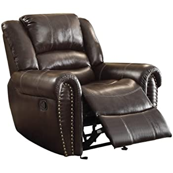 Exceptionnel Homelegance 9668BRW 1 Glider Reclining Chair, Brown Bonded Leather