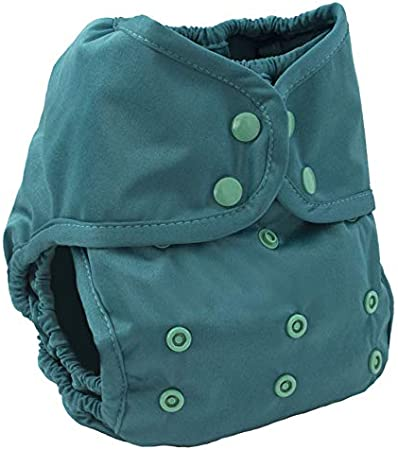 Buttons Cloth Diaper Cover – Snap Super One Size (12-40lbs) (Emerald)