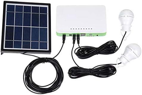 Wechselrichter Batterie Integrierte Maschine Outdoor-Solar-USB-LED-Birnen-Licht-Power System Generator Brett Energiespeicher-Ladegerät