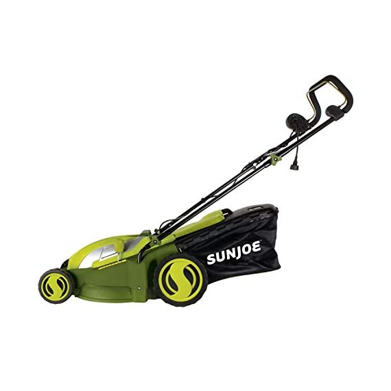 Sun Joe MJ403E Mow Joe 17-Inch 13-Amp Electric Lawn Mower/Mulcher 2 POWERFUL: 13-amp motor cuts a 17-inch wide path HEIGHT CONTROL: Tailor cutting Height with 7-position Height control CONVERTIBLE: Mulching + mowing function