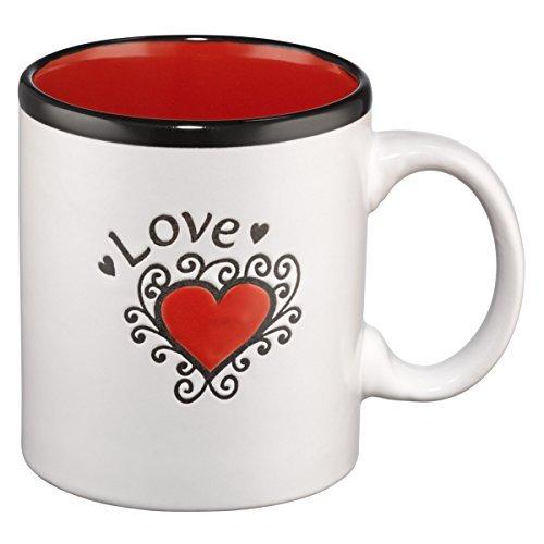 Mug - Love/Heart - Red Interior w/Gift Box by Christian Art Gifts by Christian Art Gifts
