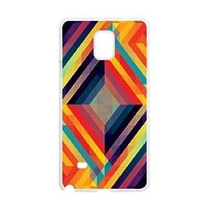 Samsung Galaxy Note 4 Case,Kaleidoscopic 7 Hard Shell Back Case for White Samsung Galaxy Note 4 Okaycosama384496