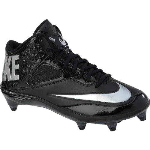 Nike Mens Lunar Code Pro 3/4 D Football Cleats-Black/Meta...