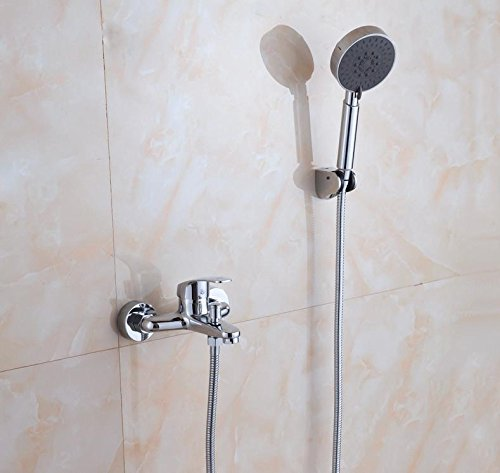 (Caribou@Bathroom Shower System Shower Head & Handheld Shower Head Spraye European wall-hung bathroom copper hot tub wall mounted Shower Mixer)