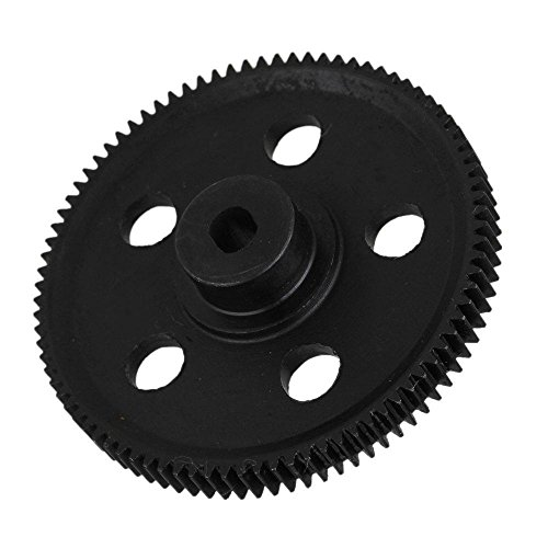 Yiguo 18024-1 87T Metal Speed Drive Differential Main Gear for HSP RC 1:10 94180 Rock Crawler Black