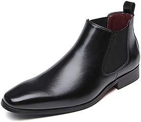 [フォクスセンス] ブーツ ビジネスシューズ チェルシーブーツ サイドゴア ブーツ メンズ 革靴 本革 防水