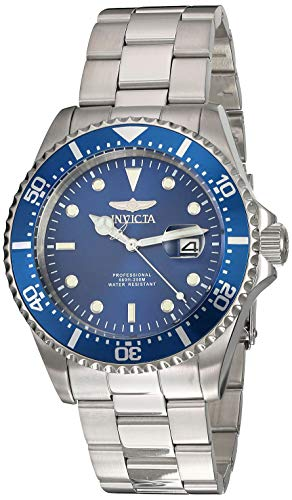 Invicta Men's Pro Diver Quartz Diving Watch with Stainless-Steel Strap, Silver, 22 (Model: 22019) ()