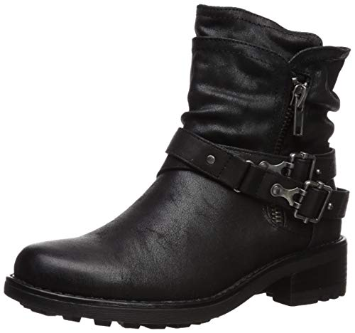 Carlos by Carlos Santana Women's Shiloh Motorcycle Boot, Black, 8 Medium US (Best Womens Motorcycle Boots)