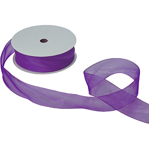 Jillson & Roberts Organdy Sheer Ribbon, 1 1/2'' Wide x 100 Yards, Purple by Jillson Roberts