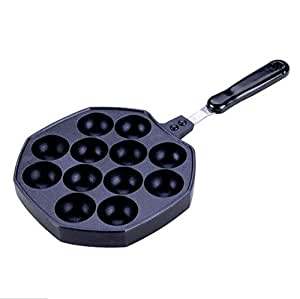 Amazon.com: Astra shop Cast-Aluminum Nonstick Takoyaki Pan ...