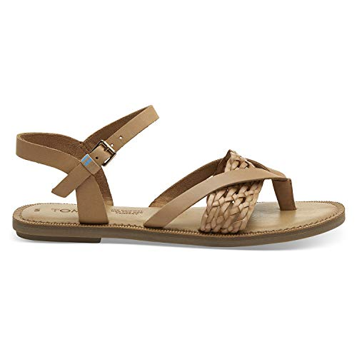 TOMS Honey Leather with Synthetic Braid Strap Women's Lexie Sandals (Size: -