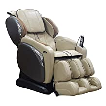 Electric Full Body Massage Chair Osaki Os-4000CS Design and New Foot Roller Advanced L-Track Massage Zero Gravity Dual Action Massage 3-Level Shoulder Adjustment (Ivory)