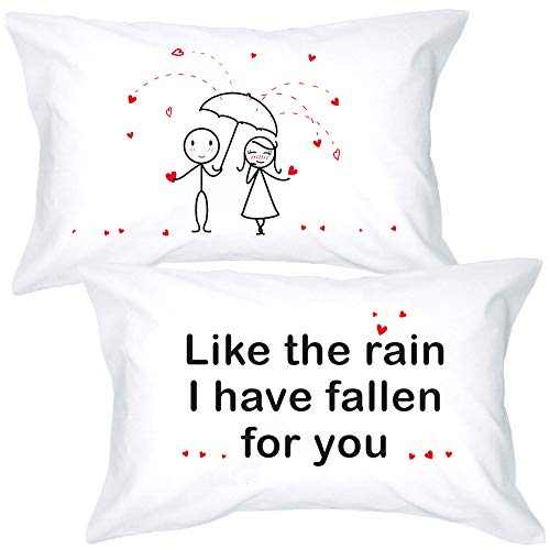 BoldLoft I Have Fallen for You Couple Pillowcases-Couple Gifts, His and Hers Gifts - Anniversary, Wedding, for Knitters-for Him Gifts Boyfriend Husband - 20