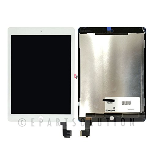 ePartSolution_iPad Air 2 A1566 A1567 LCD Display Touch Screen Digitizer Assembly Replacement Part (White)