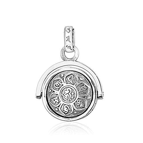 (LOVECOM BALMORA 925 Sterling Silver Rotating Charm Pendants for Women Mother Men Buddhism Wisdom Mercy Gifts (Pendant) (Pendant))