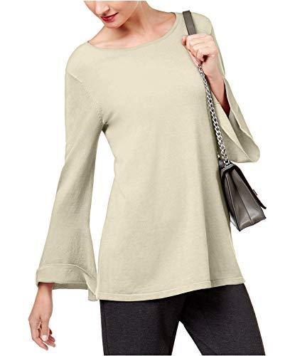 Alfani Sweater - Alfani Womens Sweater Bell Sleeves Tunic Top , XLarge , Polished Beige