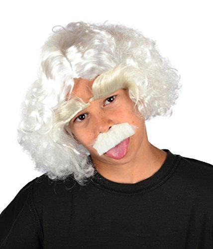 My Costume Wigs Albert Einstein Wig (White) (Einstein Costume Wig)