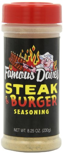 Famous Dave's Seasoning Steak & Burger, 8.25-Ounce (Pack of 6)