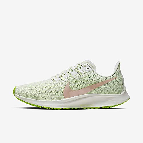 Nike Women's Air Zoom Pegasus 36 Running Shoes (6M, Phantom/Bio Beige/Barely Volt)