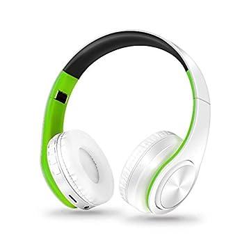 Y1Cheng Auriculares Bluetooth Auriculares Inalámbricos Bluetooth Estéreo De Micrófono/Música del Teléfono Móvil TF Música De Alta Calidad Fiebre Verde ...