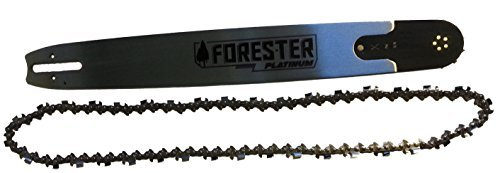 Forester Platinum 20'' Bar for Large Stihl Chainsaws 3/8 Pitch .050 Gauge Mount 72DL Including 3/8 x 72 DL .050 Gauge Full Chisel Square Tooth Chain 2 Piece Bundle