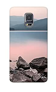 Galaxy S5 Case, Premium Protective Case With Awesome Look - Sunset Landscapes Nature California Lakes Reflections (gift For Christmas)