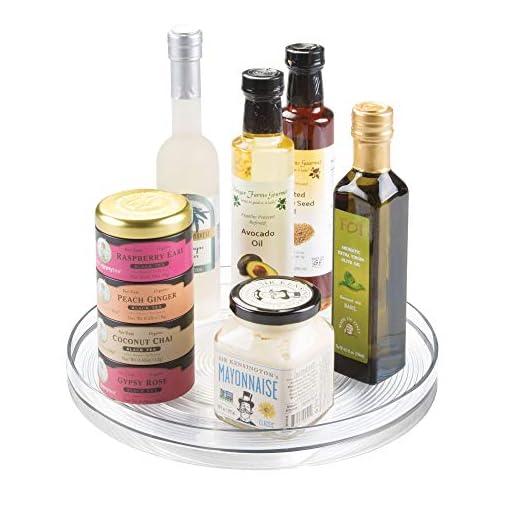 Kitchen iDesign Linus Turntable Kitchen Organizer, Organization for Pantry, Countertop, Shelf, Table, Vanity, Bathroom, 11… lazy susans