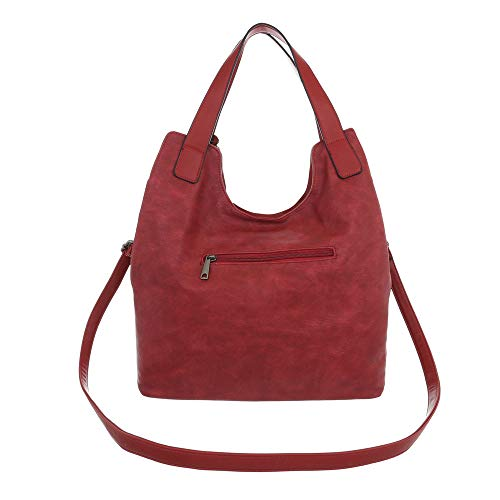 Rouge design Porter À Pour Sac Femme Ital L'épaule n7wqPf886