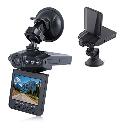 Lecmal Dash Cam/HD Car LED 2.5 inches DVR Camera/DVR Recorder with 270 degrees whirl/IR Vehicle Road Dash Video Camera Recorder/Rotatable Traffic Dashboard Camcorder-No Card Included - Black