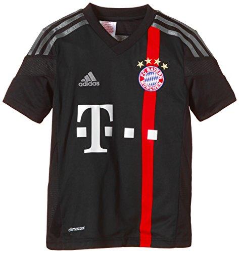 adidas Jungen Spieler-Trikot FC Bayern München UCL Replica, black/poppy/iron grey S08/dark shale, 152, F48408