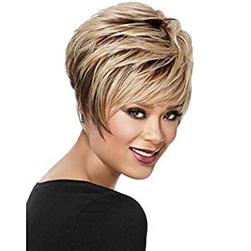 BeiSD Short Black Pixie Cut Wigs For Black Women Synthetic Short Wigs For  Women African American a828a6ce05