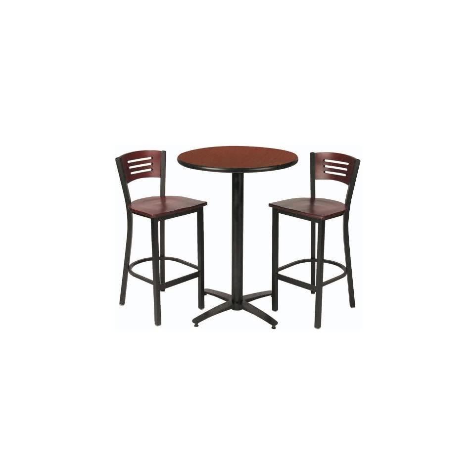 Round Pub Table with 2 Stools JWA046   Bar Tables