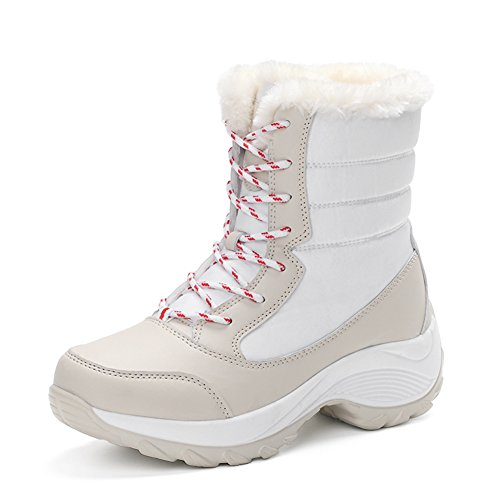 Women Waterproof Soft White Boots Ladies Boots Outdoor Warm Snow Shoes Keep Sole f6WW0ZRz
