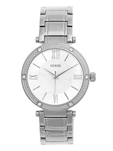 GUESS Factory Women's Silver-Tone Analog Watch