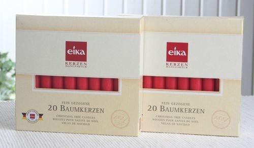 SET: 40 Eika-Baumkerzen (2x 20er-Pack), Rot