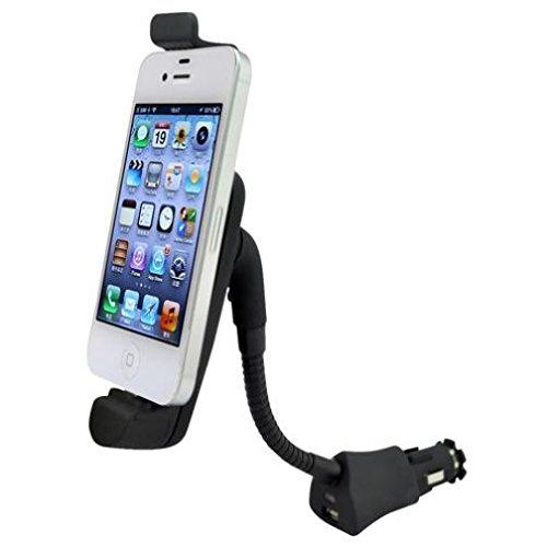 Car Mount Charger Socket Holder USB Port Dock Cradle Gooseneck Swivel for Ipod Nano 5th Gen, Touch 1st Gen, 2nd Gen, 3rd Gen, 4th Gen