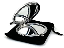 Mirror Makeup Compact Cosmetic Portable Round Pocket Handmade Souvenir Petrikivka Ukrainian \