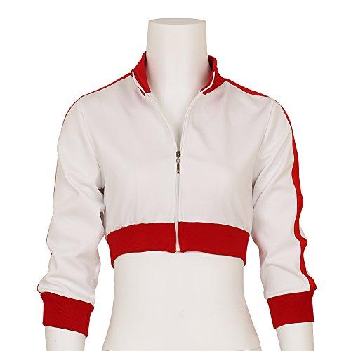 Women's Pokemon Go Trainer White Hoodie Jacket Team Valor Instinct Mystic Medium (Pokemon Trainer Jacket)