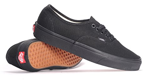 (Vans Authentic Unisex Skate Shoes, BLACK/BLACK 7.5 B(M) US Women / 6 D(M) US Men)