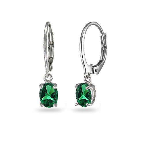 Sterling Silver 7x5 Emerald - 2
