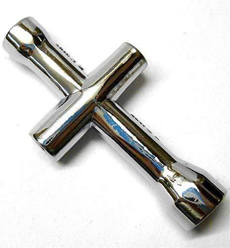 BSD T10028 Mini Llave De Cruz Llave De Rueda 4mm 4.5mm 5.5mm 7mm Aleación De Plata: Amazon.es: Juguetes y juegos