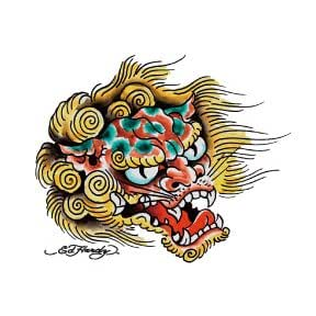 Ed Hardy Asian Dragon Temporary Tattoo (tatuajes temporales)
