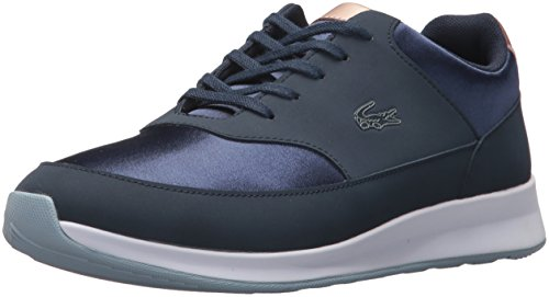 Lacoste Lace Sneakers (Lacoste Women's Chaumont LACE 317 1 Fashion Sneaker, Navy, 8 M US)