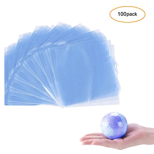 Mavogel 100 pcs Quality 6 x 6 inch Shrink Wrap Bags For Bath Bombs Handmade Soaps and DIY Small Crafts