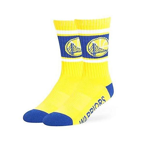 '47 Brand NBA Golden State Warriros, Men's Duster Sport Crew Socks, Large, Yellow]()