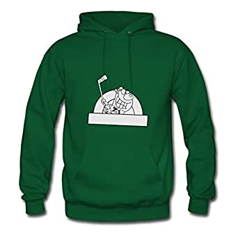 Designeded Hockey Cotton Women Speacial X-large Hoodies Green