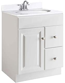 design house wyndham white semigloss vanity cabinet with 1door and 2
