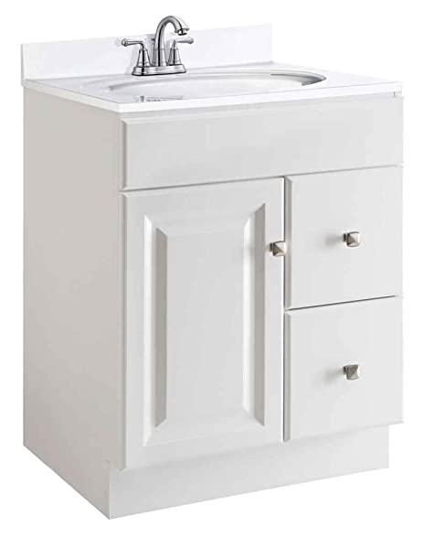 Design House 545053 Wyndham White Semi-Gloss Vanity Cabinet with 1 ...